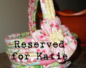Reserved Listing for Katie Fabric Basket