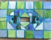 Mosaic Hand Tiled Switch Plate Cover Sea Scape
