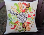 Dresden Plate Pillow Cover 1  in Meadowsweet fabrics