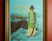 Durga II - Indian Girl Hand Pulled Screenprint