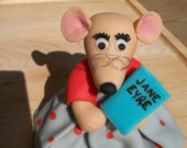 Fondant Lady or Librarian Mouse Cake Topper