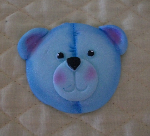 Fondant Cupcake Faces Fondant Teddy Bear Face