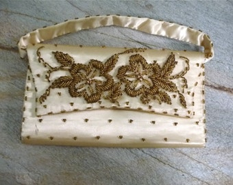Vintage Floral Beaded Purse or Clutch
