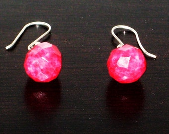 Sterling Silver Raspberry Burst Earrings