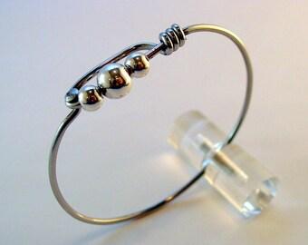 Bicycle Spoke Bracelet - Bike spoke and sterling ball bracelet