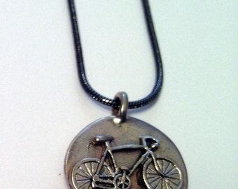 Bike Jewelry - Bike in Circle Pendant