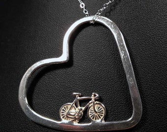 Bicycle Jewelry - Bike In My Heart Pendant