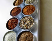 FATHERS DAY Sale - Spice Rubs for grilling and barbeque - 10 spice blends in aluminium box