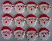 Fondant Cupcake or Cookie Topper Edible Santas