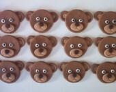 Teddy Bears Edible Cupcake or Cookie Toppers