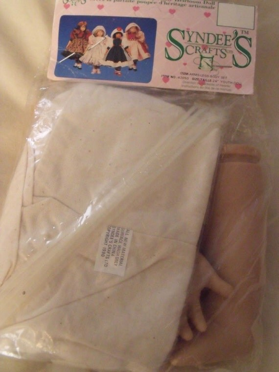 Syndee's Doll Body Legs and Arms Doll Parts to Make a 24 inch Youth Doll