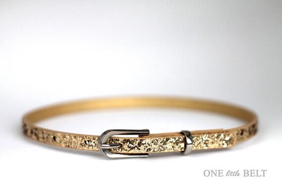 Baby Girl's Belt- Gold Glitter 6-12 months