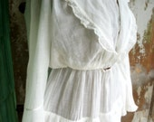 Antique  Edwardian Clothing Dress Petticoat with Ruffles Victorian Circa 1900