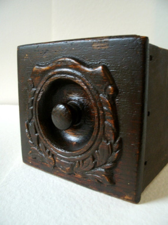 Vintage Sewing Machine Drawer-Primitive Wooden Box  Storage Display Box