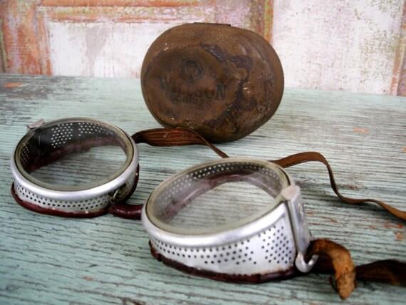 Steampunk Industrial Safety Goggles Willson Brand 1930-1940