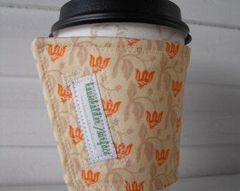 Coffee Cuff - Orange and Cream
