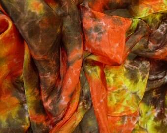 Chili and Pepper Mulberry Silk habotai  Scarf (fabric) for Nuno Felting