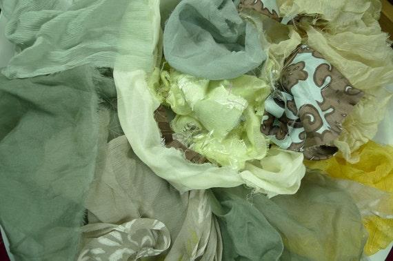 Mulberry Silk scraps  for Nuno Felting. clothing design...