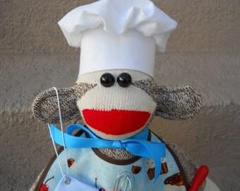 Sock Monkey Pastry Chef