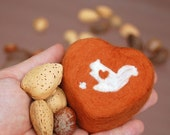 Lovely Squirrel  (Felted Apricot Freesia Soap)