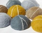 Felted Soap Yellow Pebble ( Lemon Verbena )