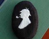 Felted Soap Sherlock Holmes ( White Tea and Ginger )