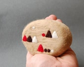 Felted Soap with Geometric Motif