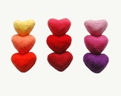 Felted Soaps Set of 9 Hearts MADE TO ORDER