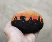 City Skyline Felted Soap ( Cranberry Fig )