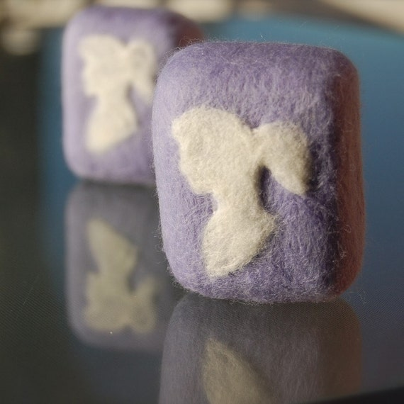 Lavender Cameo Felted Soap No.2