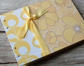 Small Wedding Guest Book, Yellow Poppy, SMALL 7x5, READY to SHIP