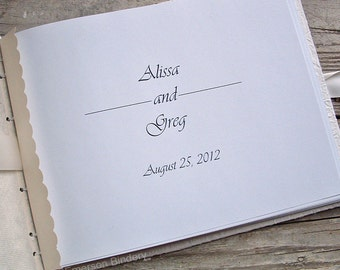 Personalized Page for your Wedding or Baby Shower Guest Book or Advice Book