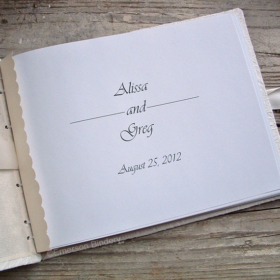 Personalized Page for your Wedding or Baby Shower Guest Book