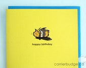 happy birthday - Guinea Pig Birthday Greeting Card (Blank)