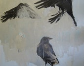 "Three Crows: Matted 8x8"" Archival Print - Signed"