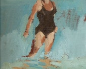 "Single swimmer black: 11x14"" Archival Print - Signed"