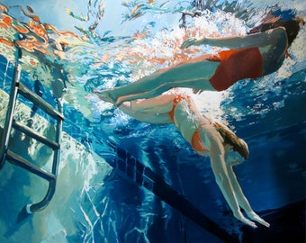 """Dive in, float: Matted 11x14"""" Archival Print - Signed"""