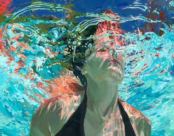 "Emerge, Clear waters: 16x20"" Archival Print- Signed"