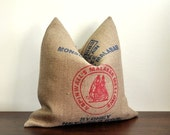 Coffee Sack Cushion - Malabar