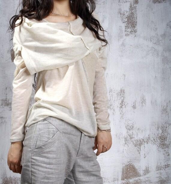 Thin Hemp knit shirts