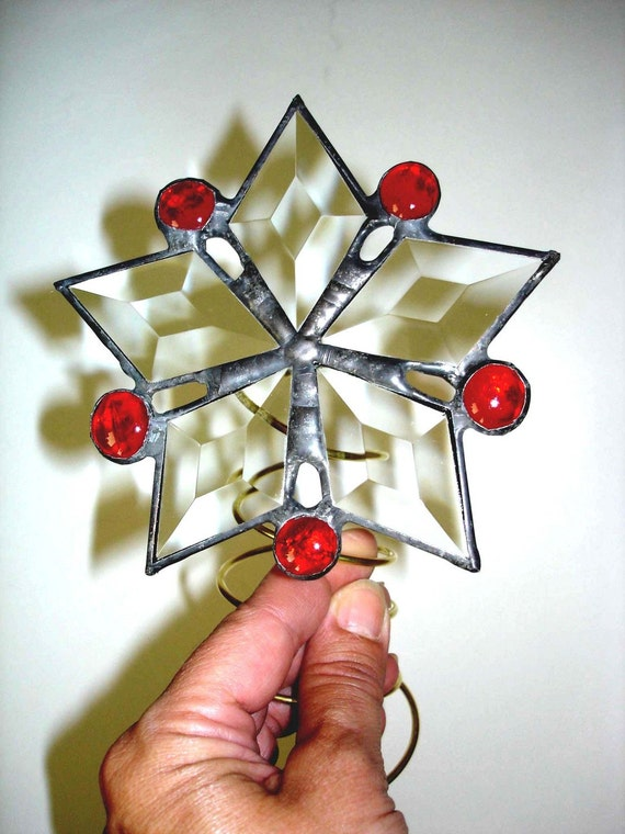On Sale Stained glass  star tree topper
