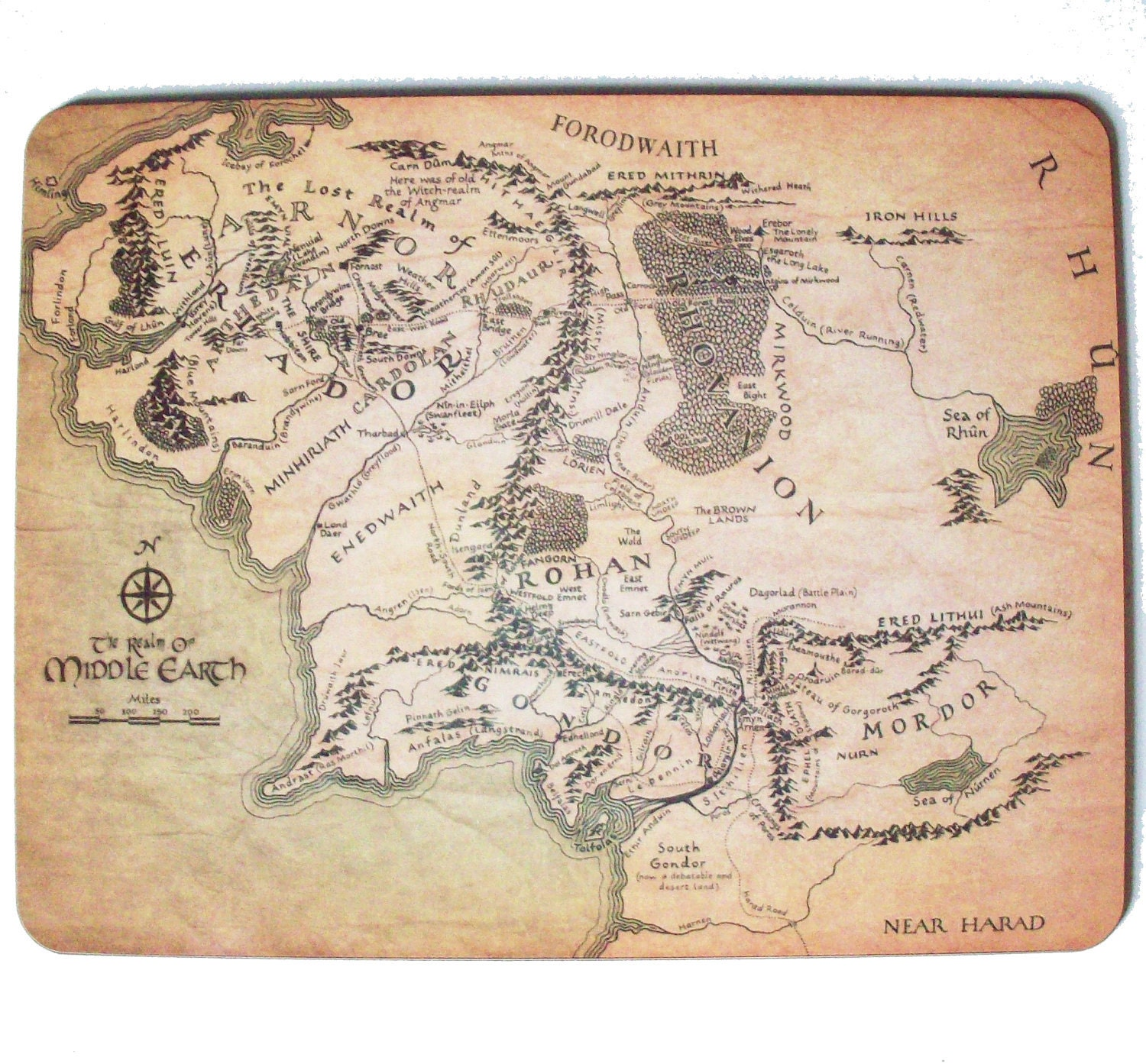 Detailed Middle Earth Map – Full Size Map of Middle Earth