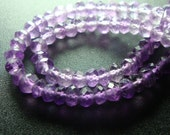 7 Inch Strand, 3-3.5mm - Beautiful purple shaded Amethyst Micro Faceted Rondelle