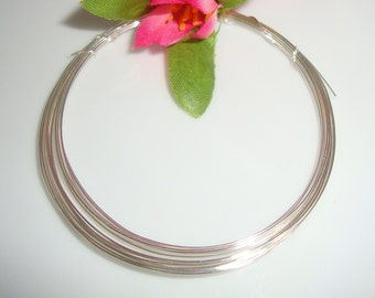 10 ft, 28g Gauge, 925 Sterling Silver Wire, Half Hard, round