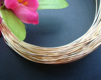 5 meter, 16.25 ft,  26 gauge, HH, 24K Gold Vermeil over Sterling Silver Wire