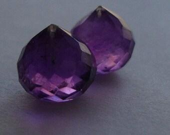 Royal Purple AMETHYST Micro Faceted Onion Briolette, 8-9mm, 4 pcs
