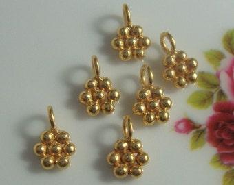 Sale, 8%off, 24 pcs, 9x6 mm, Bali Artisan, 24K Vermeil Sterling Silver Pretty Little Daisy Charm, Daisy Dangle, Earrings, Pendant, PC-0146