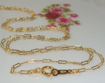 14K Gold Filled Finished Beautiful Krinkle Chain, 1 pc, 18 Inches, 3.5x1.4mm