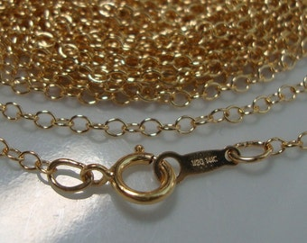 1 pcs, 18 Inches, 14K Gold Filled Finished Cable Chain with Spring Clasp, 2mm wide links