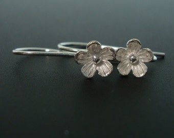 3% off, 3 Pairs, 26x12mm, 8mm lotus flower, Sterling Silver Larger Lotus Blossom Floral Ear wires - EW-0026